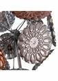 Vitale Dekoratif Bronz Puf Çiçeği Renkli